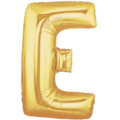 Alphabet Balloon E - Gold