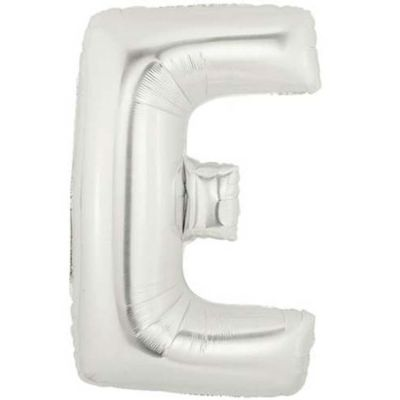 Alphabet Balloon E - Silver