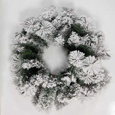 CHRISTMAS FROSTED WREATH