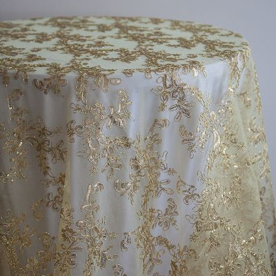 DESIGNER GOLD ORGANZA EMBROIDED OVERLAY