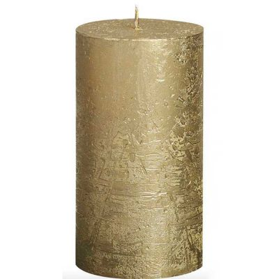 METALLIC PILLAR CANDLE GOLD
