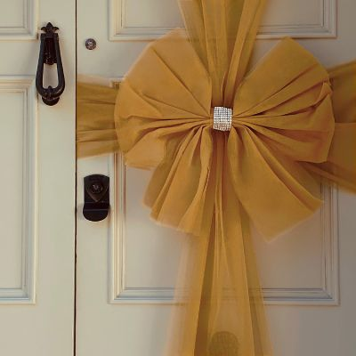 Tulle Door Bow - Gold