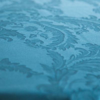 DAMASK TABLE CLOTHS 90 X 90 - PETROL BLUE