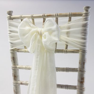 CHEESECLOTH SASH IVORY