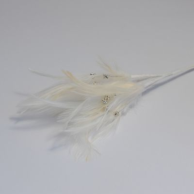 Diamante Feathers - Ivory