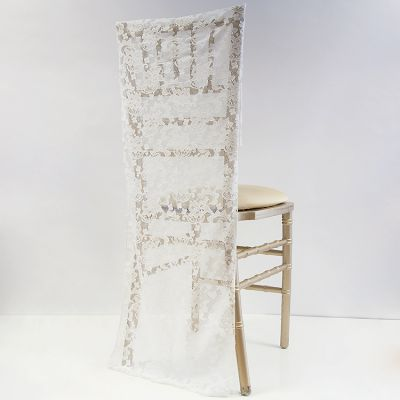 LACE FULL LENGTH CHAIR CAP - IVORY