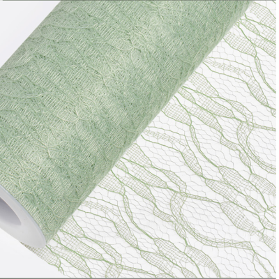 Lace Net Roll 15CM x 10M - Sage Green
