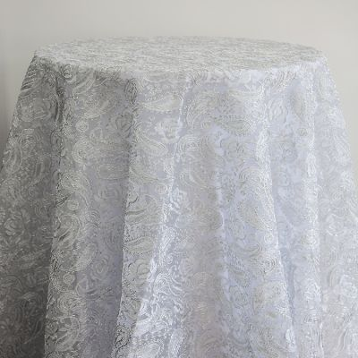 Luxe Paisley Embroidered Overlay