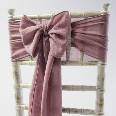 CHEESECLOTH SASH MAUVE