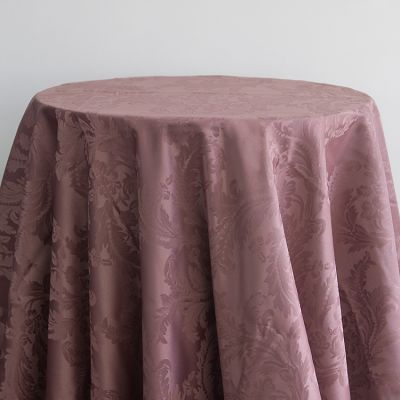 DAMASK TABLE CLOTHS 132 ROUND - MAUVE
