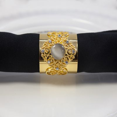 JUBILEE NAPKIN RINGS GOLD - 6 PACK