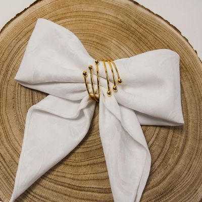 SPIRAL METAL NAPKIN RINGS GOLD
