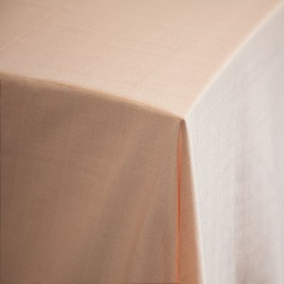 PREMIUM LINEN TABLECLOTH 70X144 PEACH