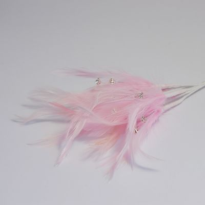 Diamante Feathers - PInk