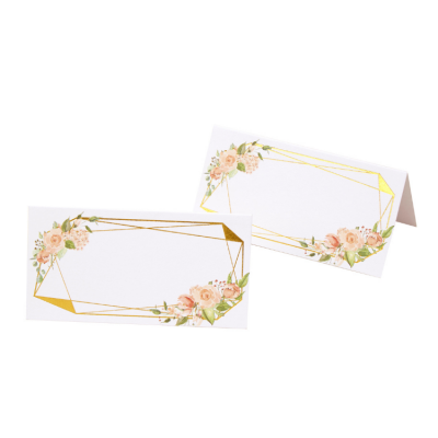 GEOMETRIC FLORAL PLACE CARDS 25 PACK