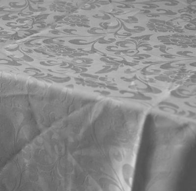 "Damask Cloth 59"" x 78"" - Silver"