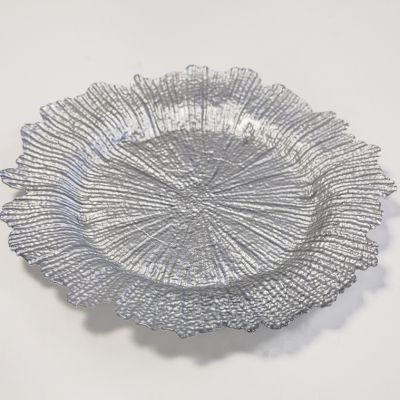 Charger Plate Reef Design - Silver