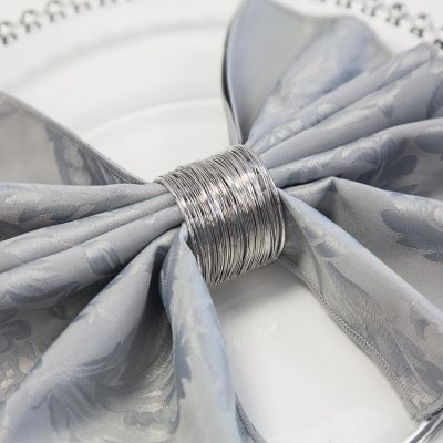 Wire Napkin Rings 01 Silver - 6 Pack