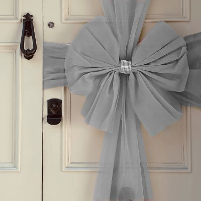 TULLE DOOR BOW - SILVER