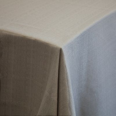 "Premium Linen Tablecloth 132"" Stone Grey"