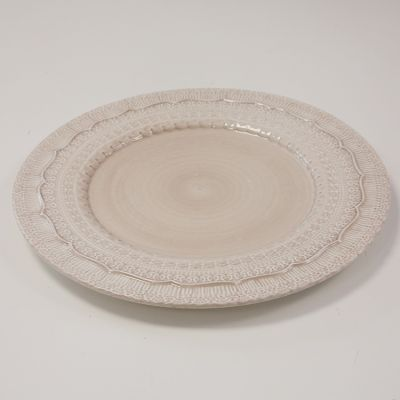 CHARGER PLATE PORCELAINE LACE DESIGN IVORY 50016