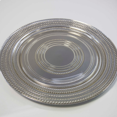 DOT DESIGN CHARGER PLATE SILVER